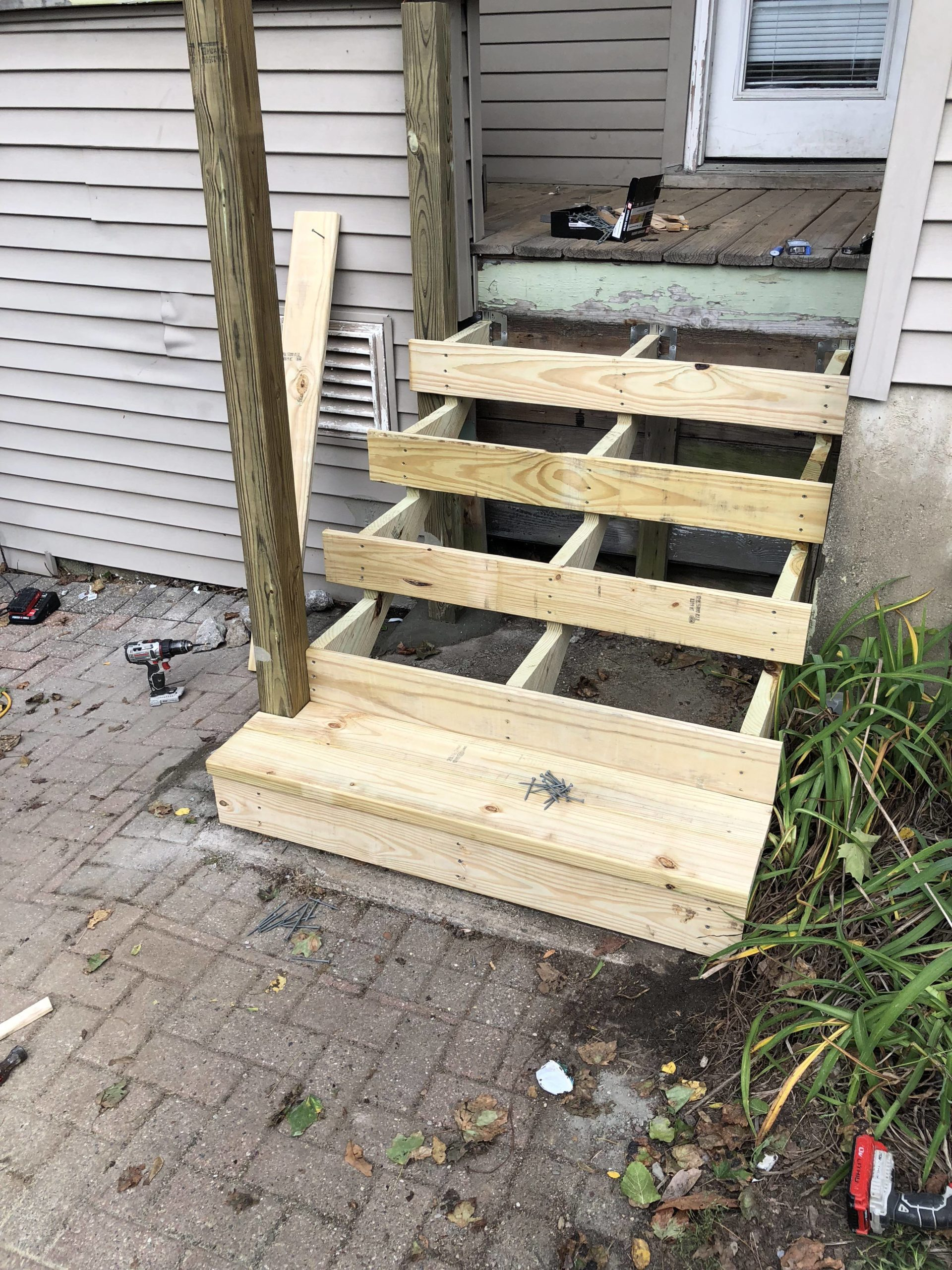 creating wooden stairs